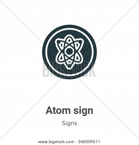 Atom sign vector icon on white background. Flat vector atom sign icon symbol sign from modern signs collection for mobile concept and web apps design. stock photo