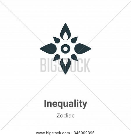 Inequality vector icon on white background. Flat vector inequality icon symbol sign from modern zodiac collection for mobile concept and web apps design. stock photo