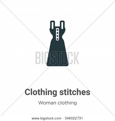 Clothing stitches vector icon on white background. Flat vector clothing stitches icon symbol sign from modern woman clothing collection for mobile concept and web apps design. stock photo