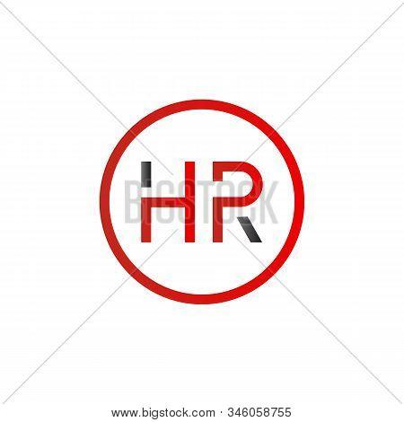 letter HR Logo Design Vector Template. Initial HR Letter Design Vector Illustration stock photo