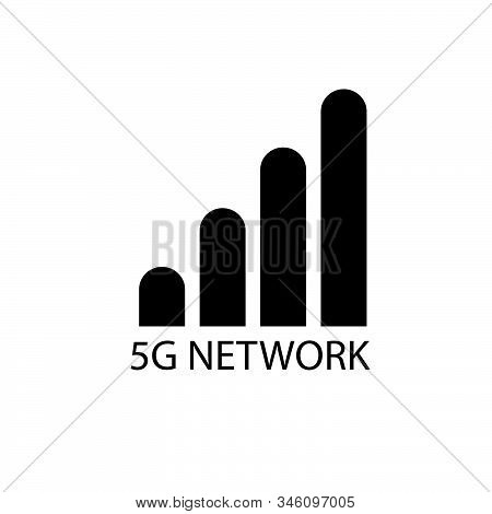 5G internet network vector logo. Isolated icon for 5 G mobile net or wireless high speed connection and data transmission technology and smartphone UI app design stock photo