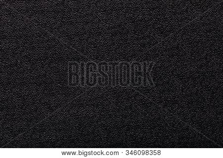 black artificial leather texture background. macro photo stock photo