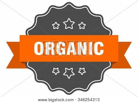 organic isolated seal. organic orange label. organic stock photo