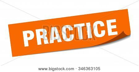 practice sticker. practice square isolated sign. practice stock photo