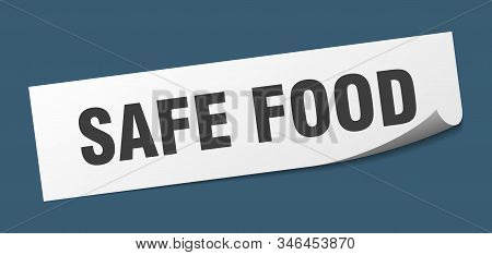 safe food sticker. safe food square isolated sign. safe food stock photo