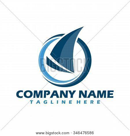 boat logo. yacht logo. Cruise ship Logo Template vector icon illustration design, Ship logo, nautical sailing boat icon vector design, Sailing boat icon symbol, vector illustration, Ocean Ship - sign concept. Sea boat illustration. Ship wheel, Ship, Cruis stock photo
