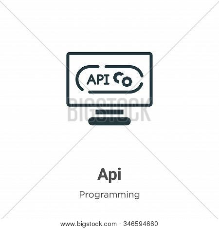 Api glyph icon vector on white background. Flat vector api icon symbol sign from modern programming collection for mobile concept and web apps design. stock photo