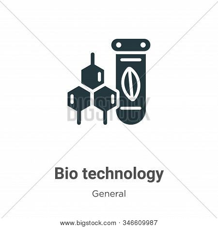 Bio technology glyph icon vector on white background. Flat vector bio technology icon symbol sign from modern general collection for mobile concept and web apps design. stock photo