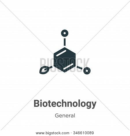 Biotechnology glyph icon vector on white background. Flat vector biotechnology icon symbol sign from modern general collection for mobile concept and web apps design. stock photo