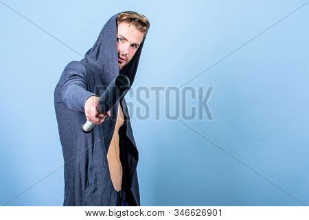Feeling free and confident. Bandit gang and conflict. man with baseball bat. Sexy muscular man fighting. Hooligan macho hits the bat. sport activity. full of energy. Sport. hidden anger. copy space stock photo