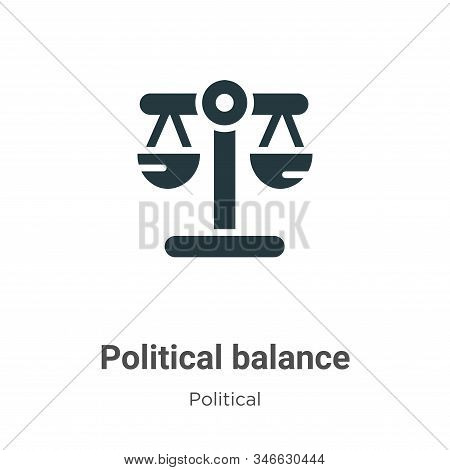 Political balance glyph icon vector on white background. Flat vector political balance icon symbol sign from modern political collection for mobile concept and web apps design. stock photo