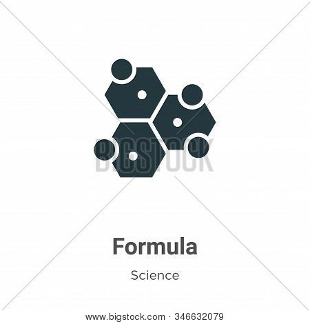Formula glyph icon vector on white background. Flat vector formula icon symbol sign from modern science collection for mobile concept and web apps design. stock photo