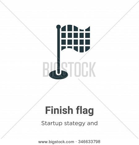 Finish flag glyph icon vector on white background. Flat vector finish flag icon symbol sign from modern startup stategy and success collection for mobile concept and web apps design. stock photo