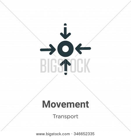 Movement glyph icon vector on white background. Flat vector movement icon symbol sign from modern transport collection for mobile concept and web apps design. stock photo