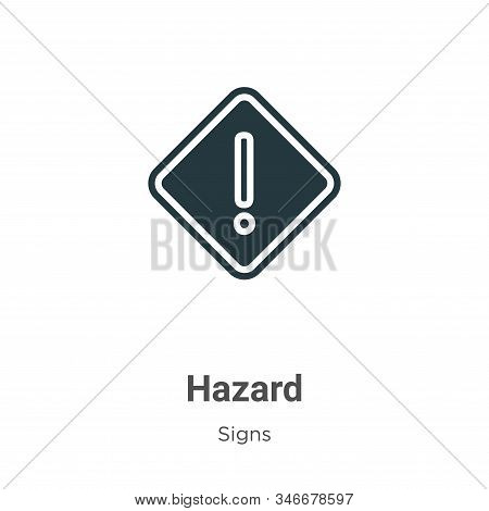 Hazard glyph icon vector on white background. Flat vector hazard icon symbol sign from modern signs collection for mobile concept and web apps design. stock photo