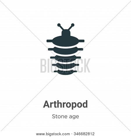 Arthropod glyph icon vector on white background. Flat vector arthropod icon symbol sign from modern stone age collection for mobile concept and web apps design. stock photo