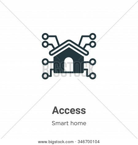 Access glyph icon vector on white background. Flat vector access icon symbol sign from modern smart house collection for mobile concept and web apps design. stock photo