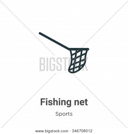Fishing net glyph icon vector on white background. Flat vector fishing net icon symbol sign from modern sports and competition collection for mobile concept and web apps design. stock photo
