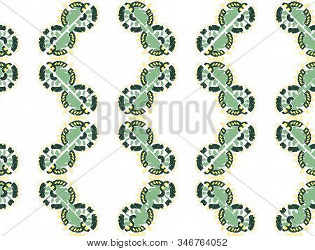Abstract embroidery seamless ikat pattern Geometric abstract ornament background stock photo