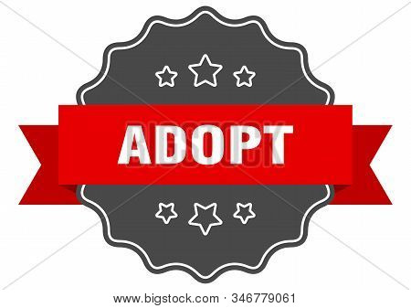 adopt red label. adopt isolated seal. adopt stock photo