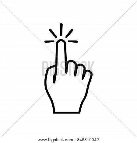 Hand click icon isolated on white background. Hand click icon  vector design illustration. Hand click vector icon modern and simple flat symbol for web site, mobile, logo, app, template, business stock photo