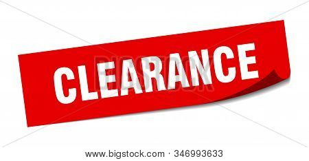clearance sticker. clearance square isolated sign. clearance stock photo