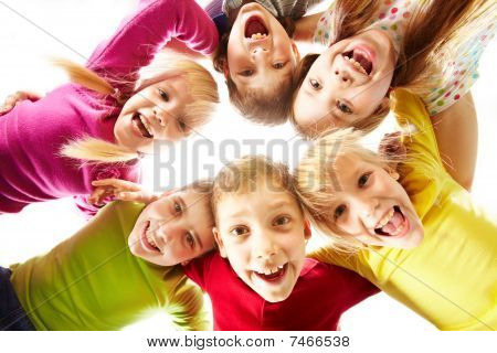 Image of happy kids representing youth and fun stock photo
