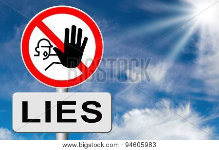 no more lies stop lying tell the truth and be honest no misleading or deception stock photo