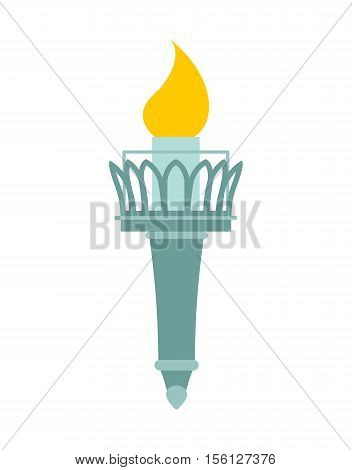 Torch Of Statue Of Liberty. Lighthouse For Ships. Accessory Monument Of Architecture In America. Nat