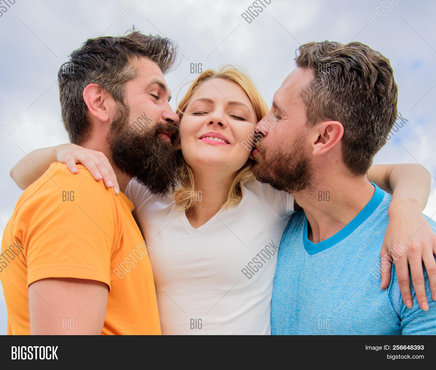 Two guys dating the same girl