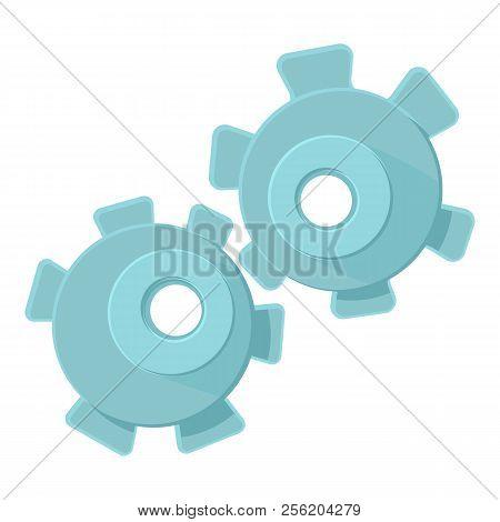 Cogwheel icon. Cartoon illustration of cogwheel icon for web stock photo