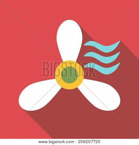 Propeller icon. Flat illustration of propeller icon for web stock photo