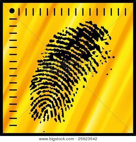 vector fingerprint stock photo