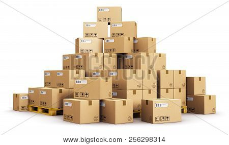 Creative Abstract Cargo, Delivery And Transportation Logistics Storage Warehouse Industry Business C