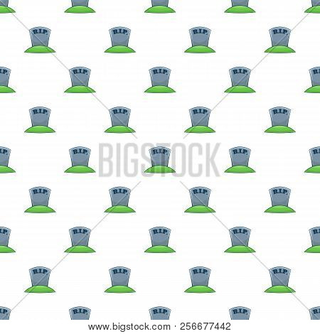 Tombstone pattern. Cartoon illustration of tombstone pattern for web stock photo