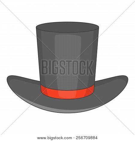 Gentleman hat icon. Cartoon illustration of gentleman hat icon for web design stock photo