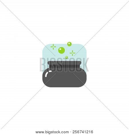 colored simple vector flat art square cartoon magical boiler icon stock photo