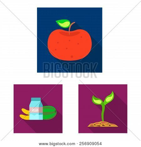 Vector illustration of genetic and plant symbol. Set of genetic and biotechnology vector icon for stock. stock photo