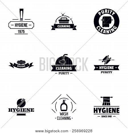 Hygiene logo set. Simple set of 9 hygiene logo for web isolated on white background stock photo