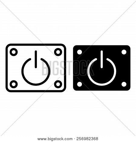 Power on off line and glyph icon. Power button vector illustration isolated on white. Start outline style design, designed for web and app. Eps 10. stock photo