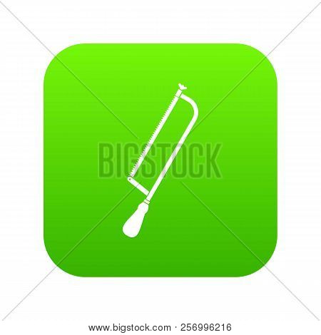 Amputation and surgical saw icon digital green for any design isolated on white illustration stock photo