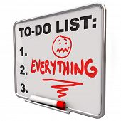 The word Everything on a schedule on a dry eradicate board to help you to remember your errands, nee