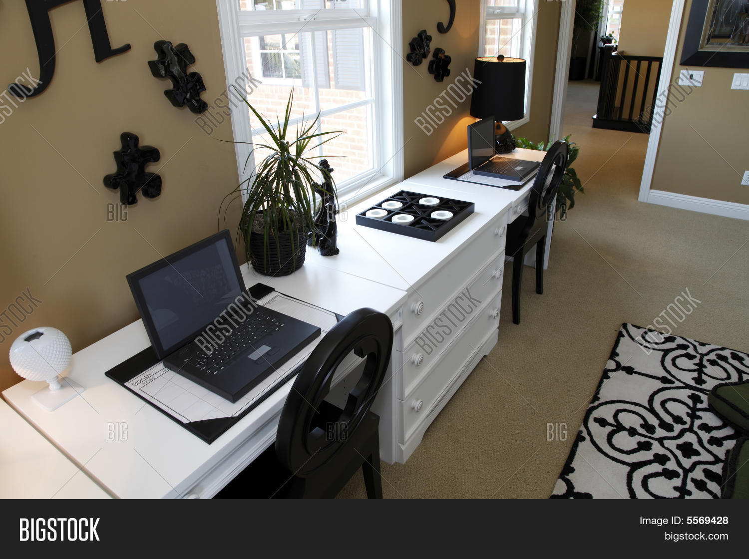 🔥 Residential office with laptops - 5569428 image & stock photo