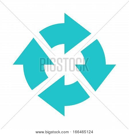 Arrow sign direction icon navigation button reload refresh rotation loop repetition reset pictogram. Vector illustration a graphic element for design. stock photo