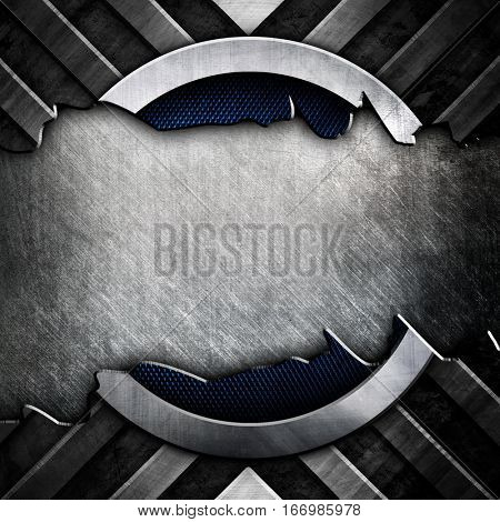 abstract cracked metal design background stock photo