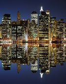 The Lower Manhattan Skyline with genuine appearance in New York City.