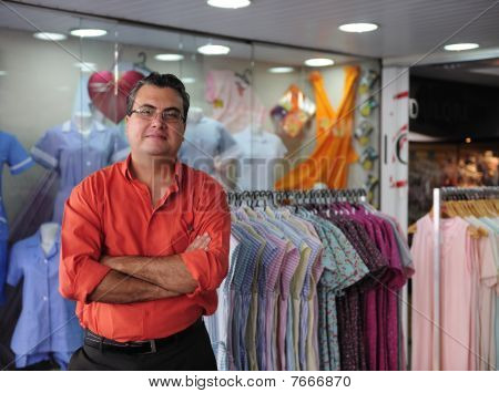 portrait of a proud and confident retail store owner stock photo