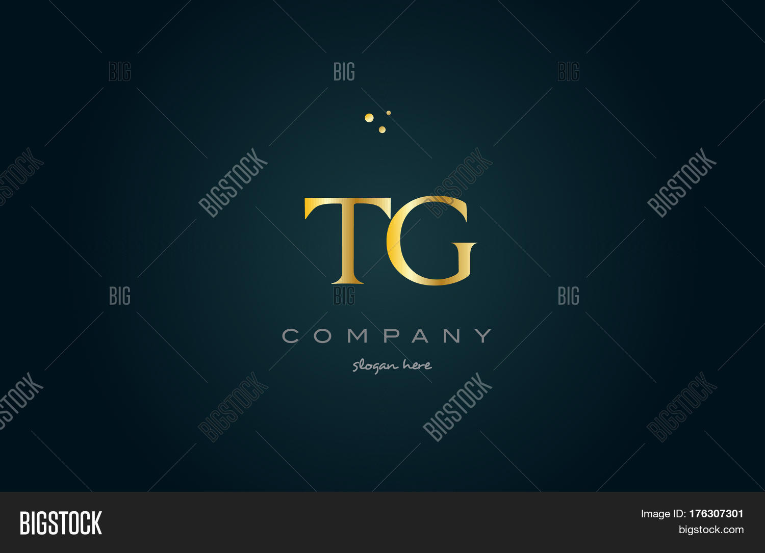 Tg T G Gold Golden Luxury Alphabet Letter Logo Icon Template