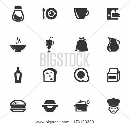 Food icons set and symbols for web user interface stock photo