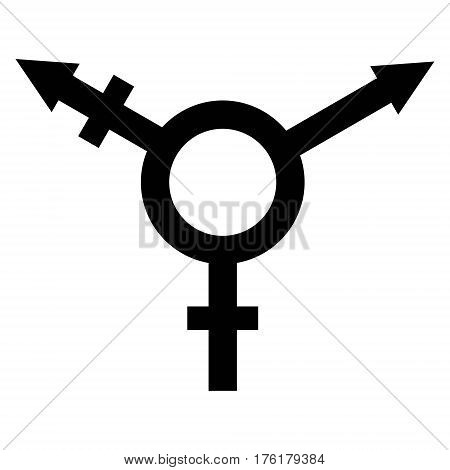 sign symbol of gender equality, Male, female and transgender equality concept. The equality of men and women. Equal rights concept. Gender equality. stock photo